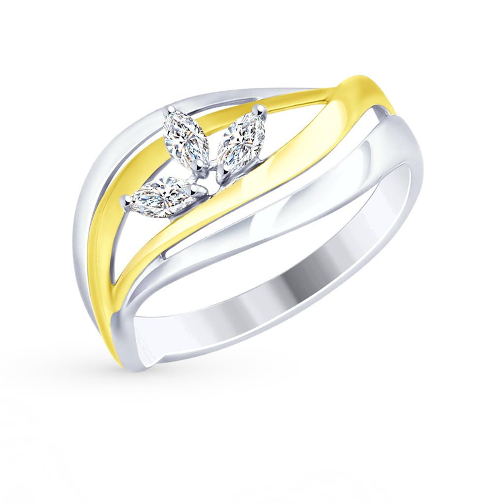 серебряное кольцо с фианитами SOKOLOV 94012471