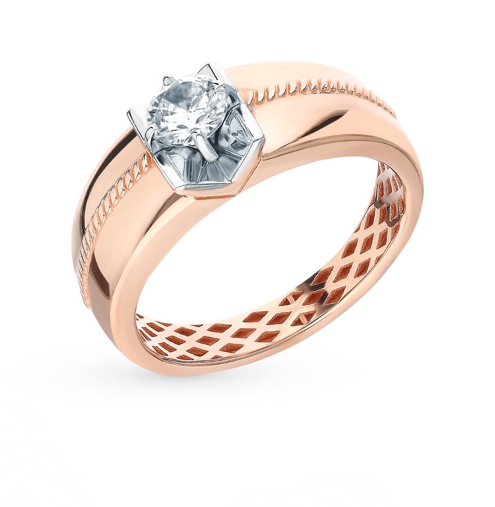 Фото «Золотое кольцо с фианитами SOKOLOV 018258*»