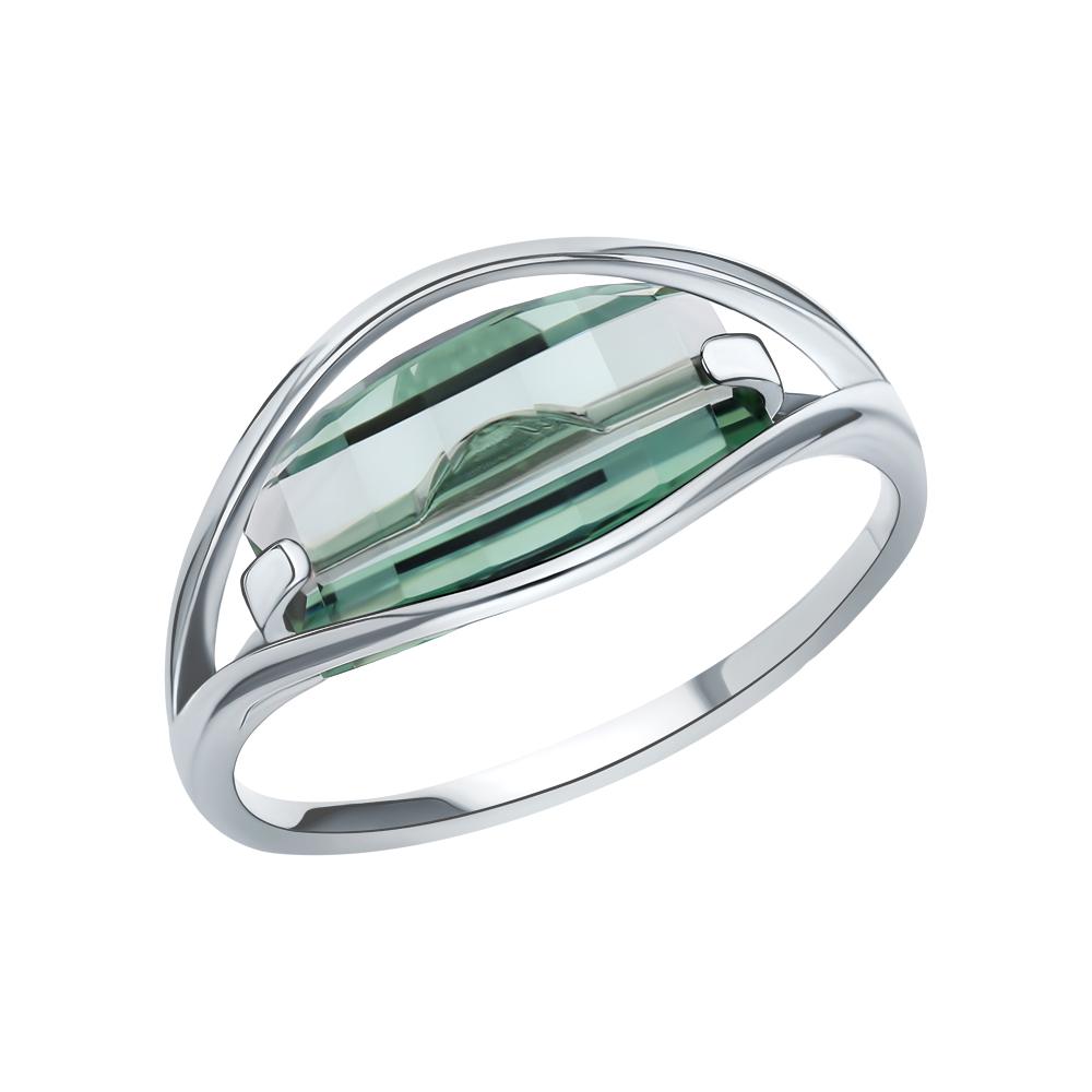 Серебряное кольцо с празиолит в Екатеринбурге