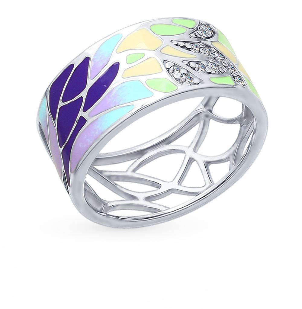 серебряное кольцо с фианитами SOKOLOV 94012402