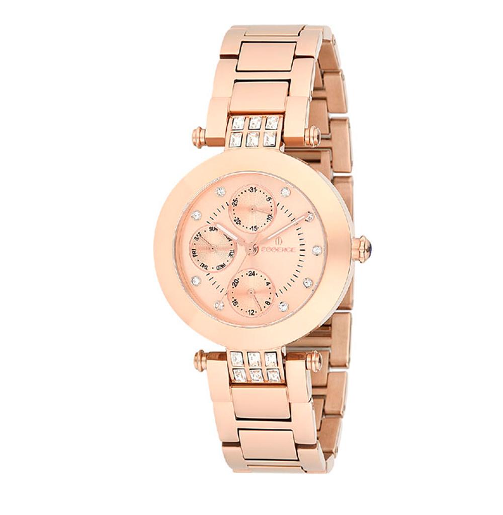 Фото «Женские часы ES6341FE.410 на стальном браслете с розовым PVD покрытием с минеральным стеклом»
