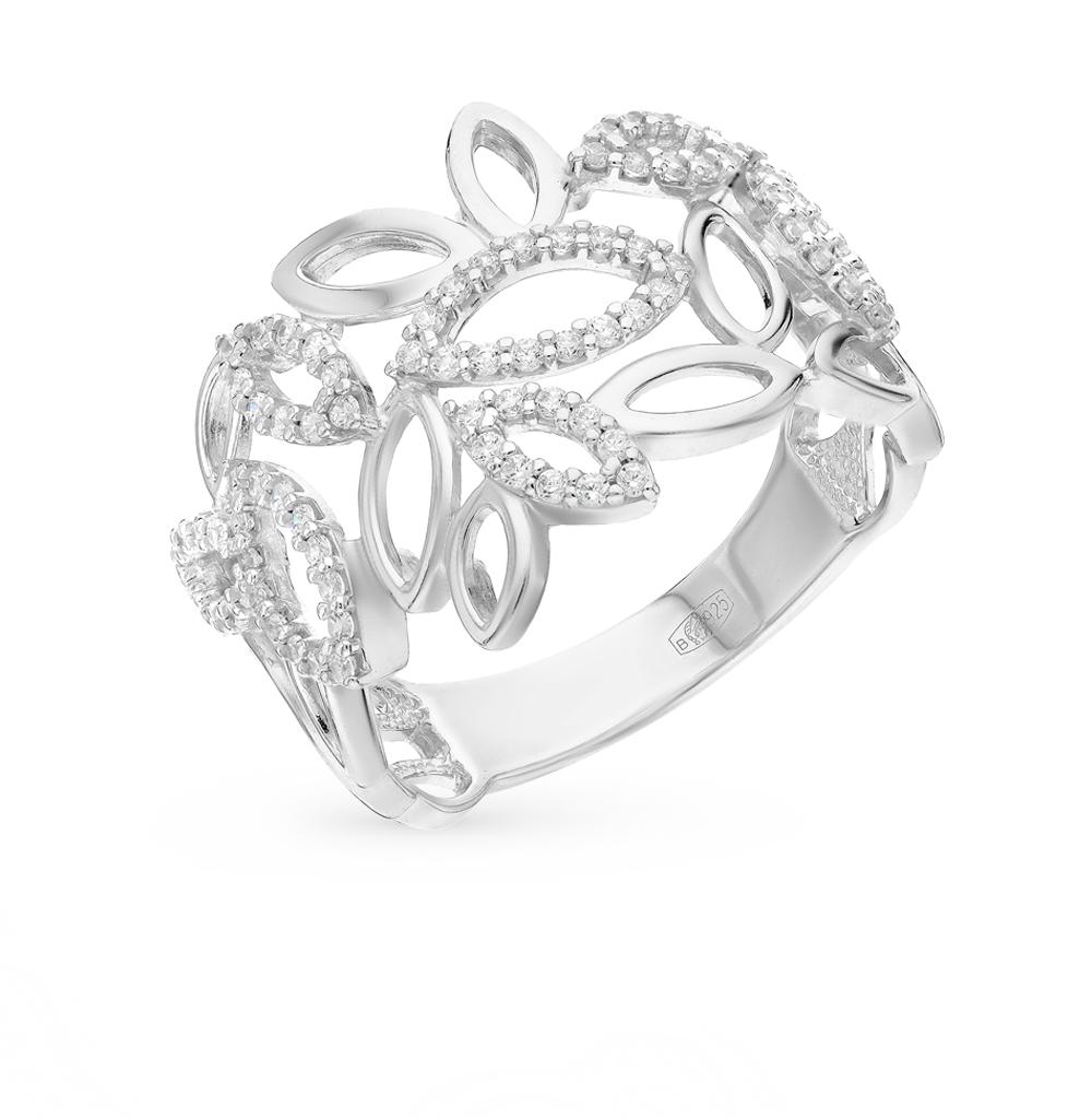 серебряное кольцо с фианитами SOKOLOV 94010603