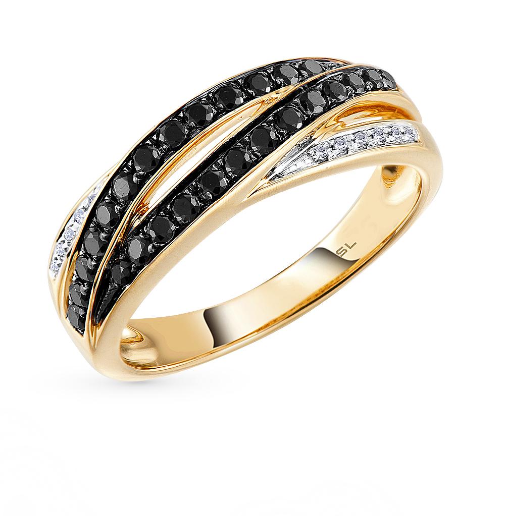 Фото «золото кольцо с чёрными бриллиантами и бриллиантами»