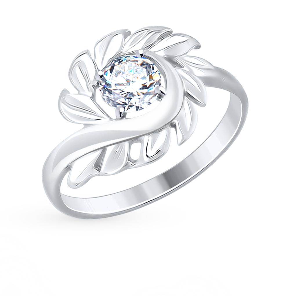 серебряное кольцо с фианитами SOKOLOV 94012476