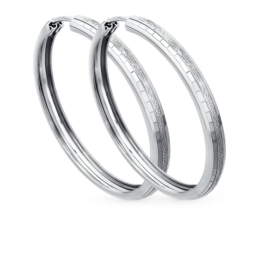 серебряные серьги SOKOLOV 94140066