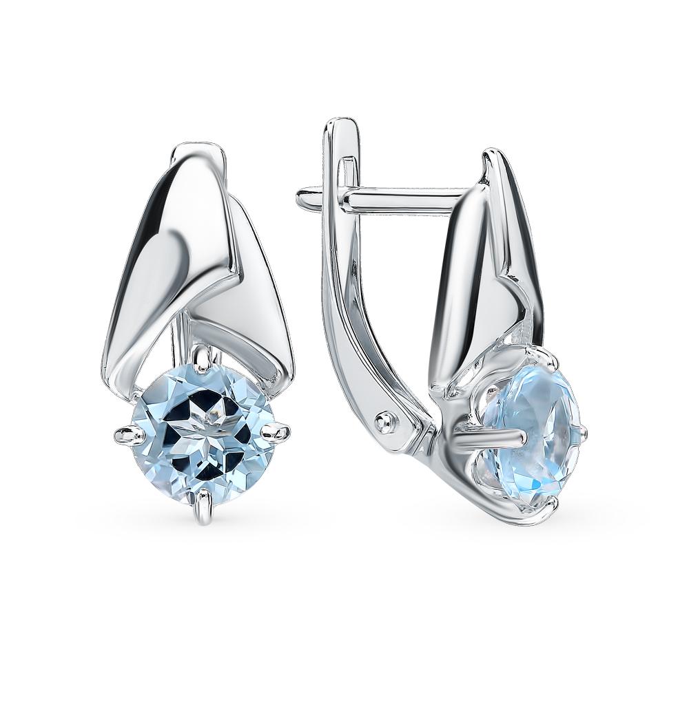 Серебряные серьги с топазами SOKOLOV 92021798 в Екатеринбурге