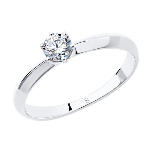 Фото «Золотое кольцо с фианитами SOKOLOV 81010226*»