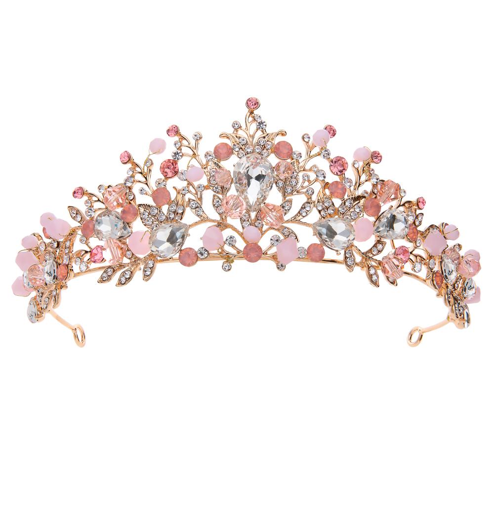 Диадема с ювелирными кристаллами