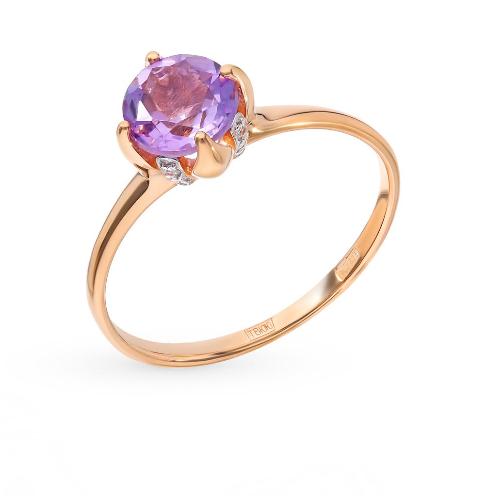 Золотое кольцо с аметистом и фианитами SOKOLOV 714932* в Екатеринбурге