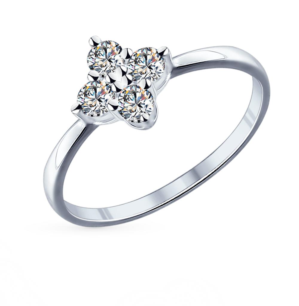 серебряное кольцо с фианитами SOKOLOV 94011739