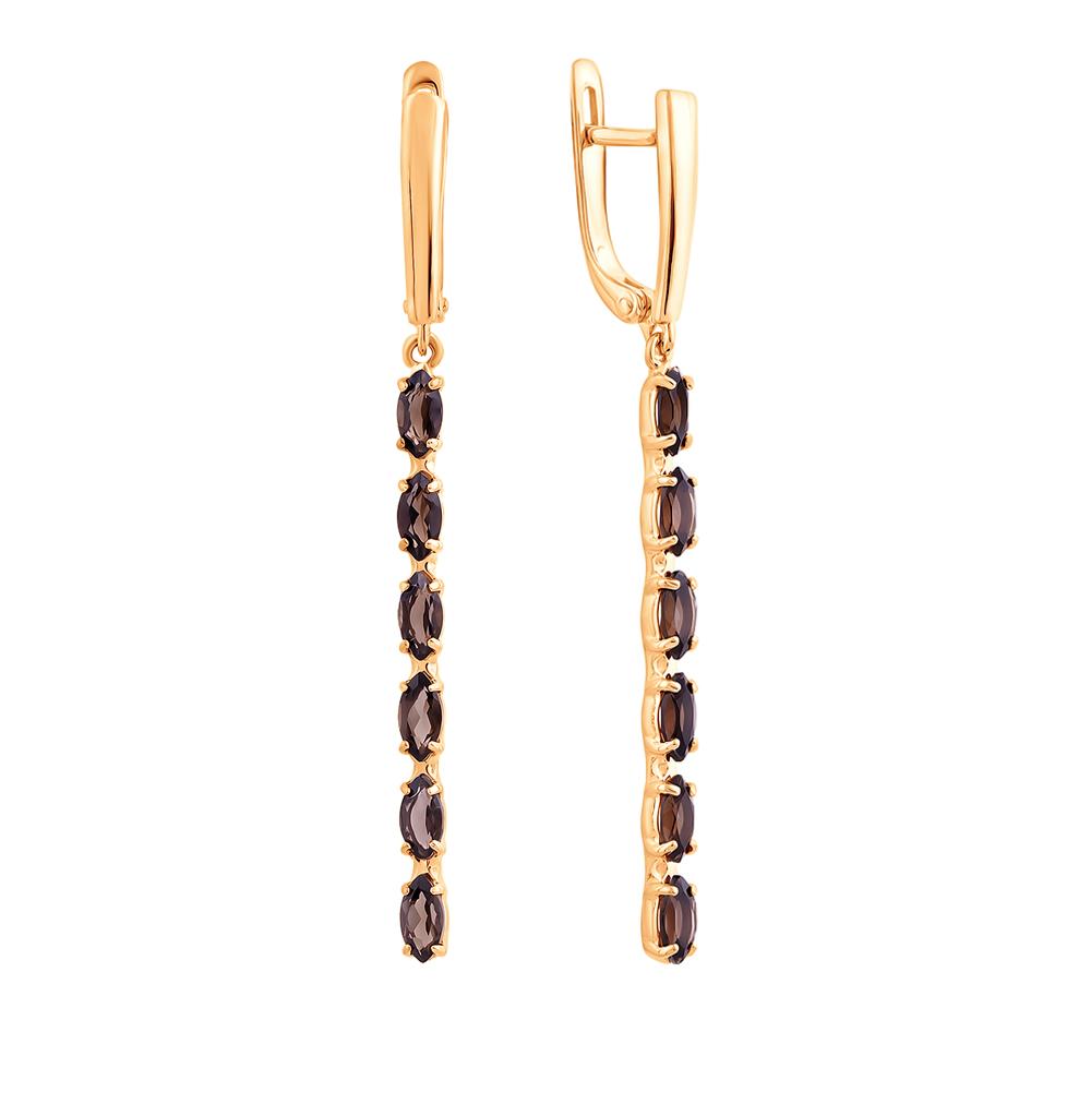 Фото «Золотые серьги с раухтопазами»
