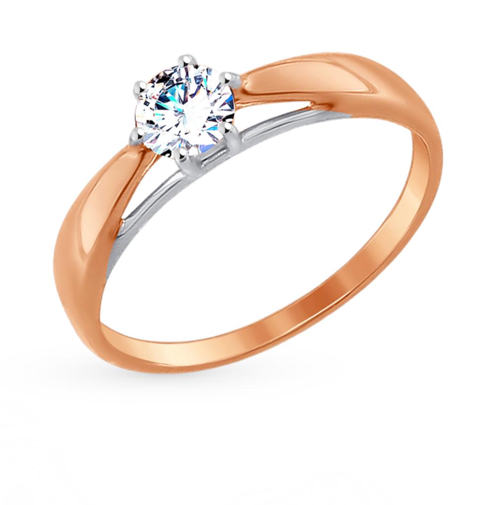 золотое кольцо с фианитами SOKOLOV 017494*