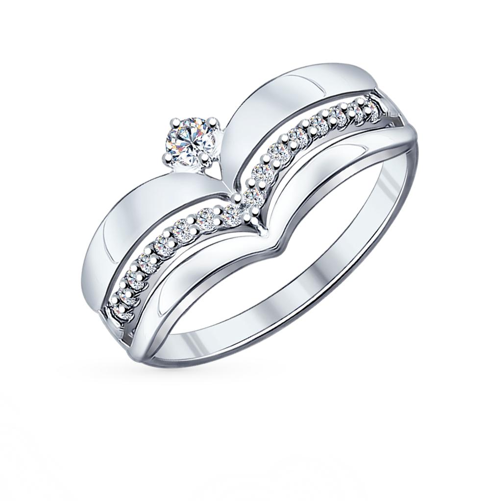 серебряное кольцо с фианитами SOKOLOV 94011839
