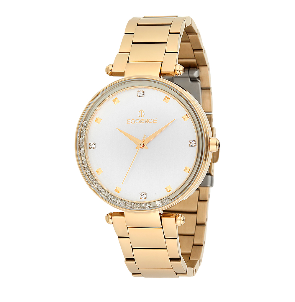 Женские часы ES6387FE.130 на стальном браслете с PVD покрытием с минеральным стеклом