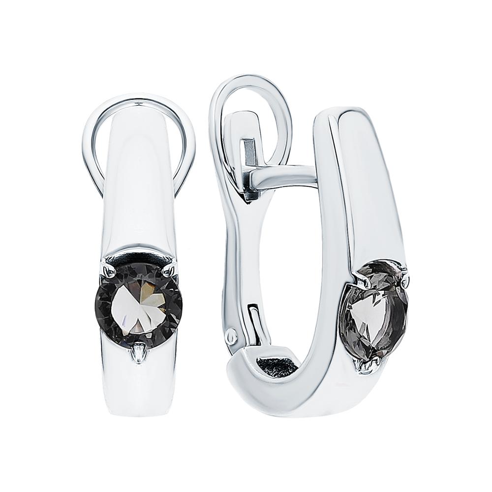 Серебряные серьги с кристаллами в Екатеринбурге