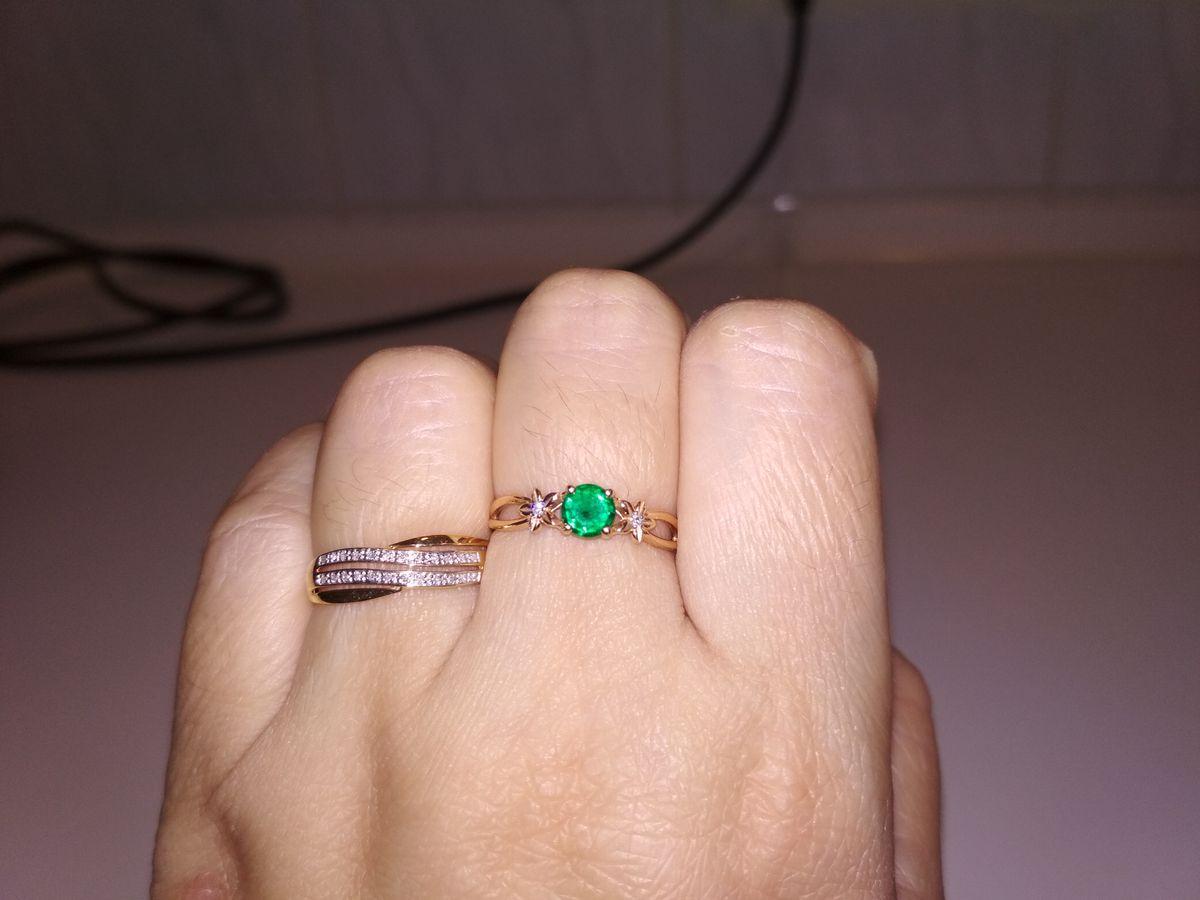 Кольцо с росыпью бриллиантов.