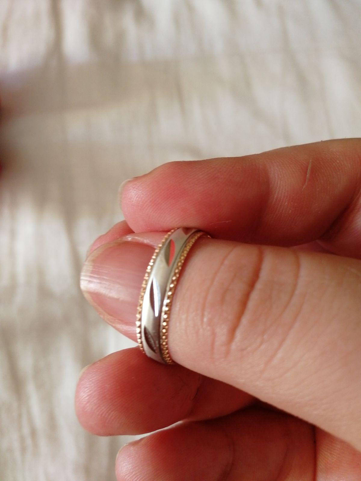 Кольцо обручальное из розового золота