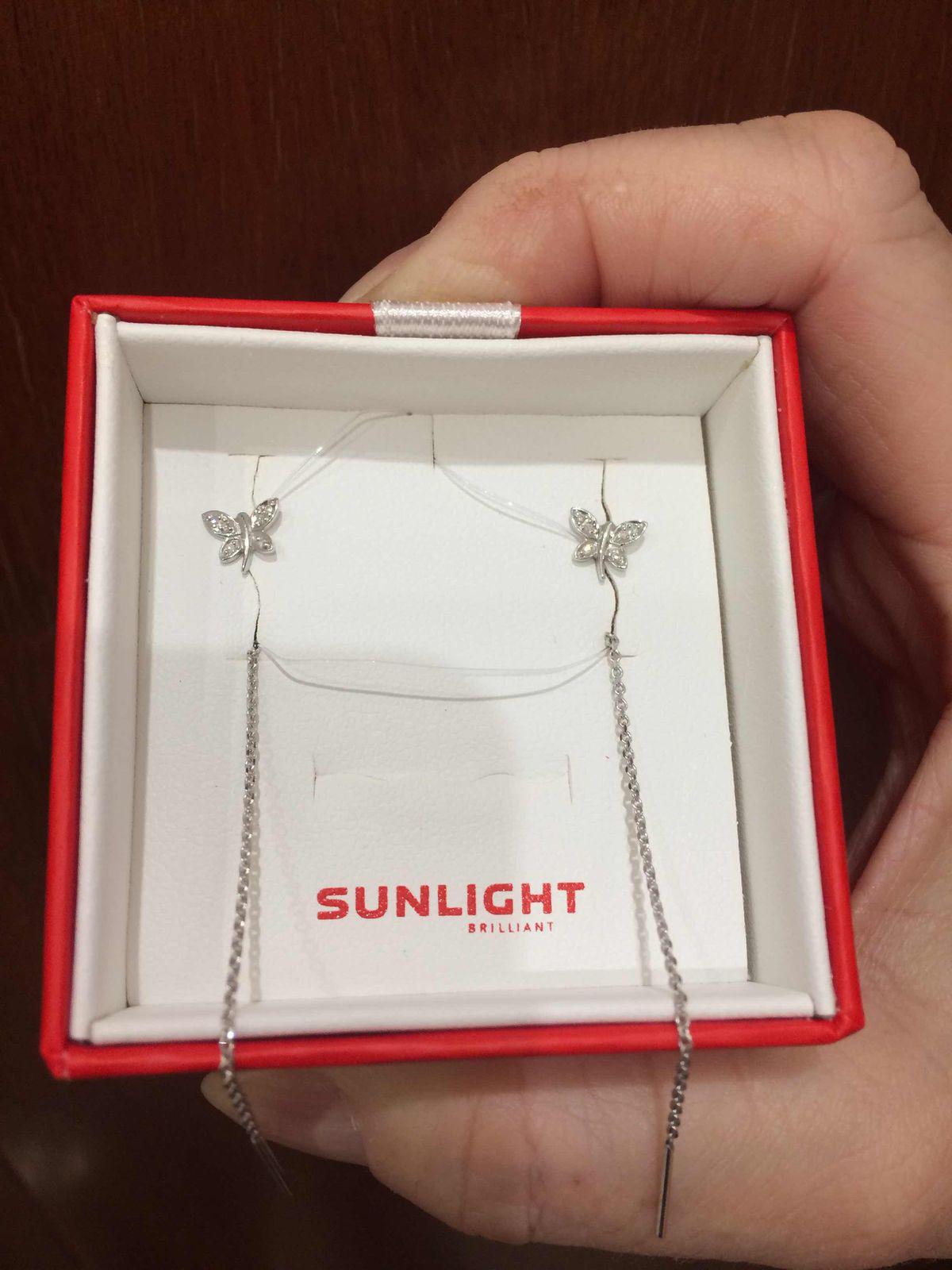 Сережки с бриллиантовыми бабочками - супер покупка