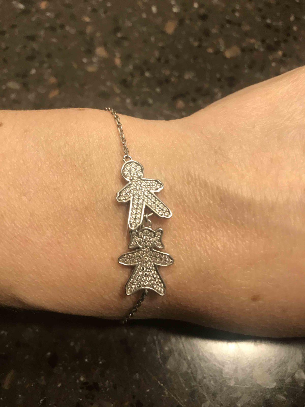 Серебряный браслет для мамы