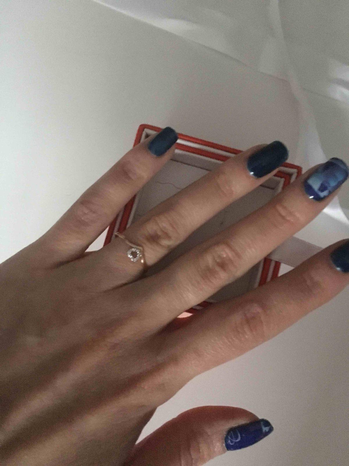 Золотое кольцо с брилиантами