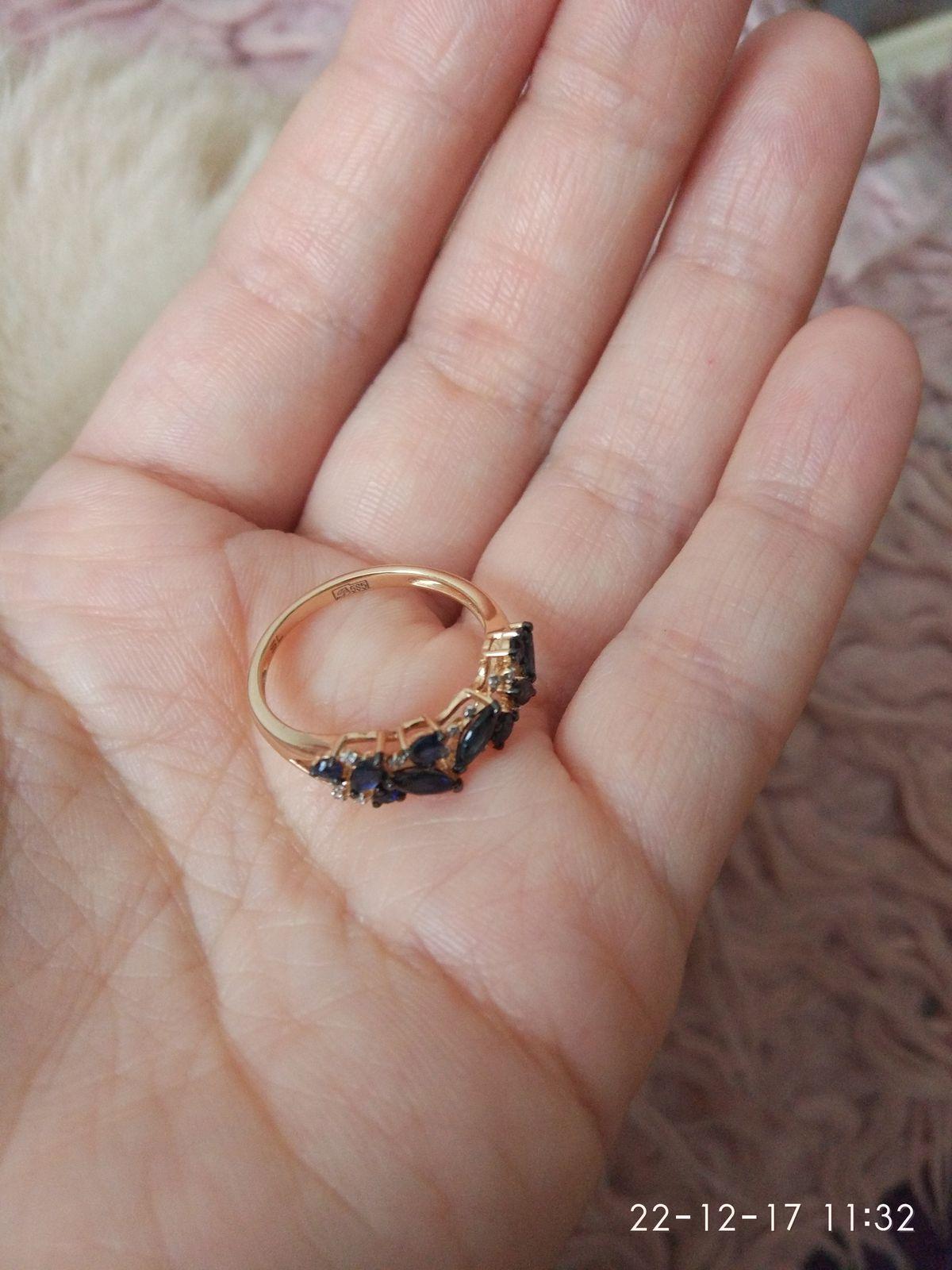 Кольцо с сапфирами