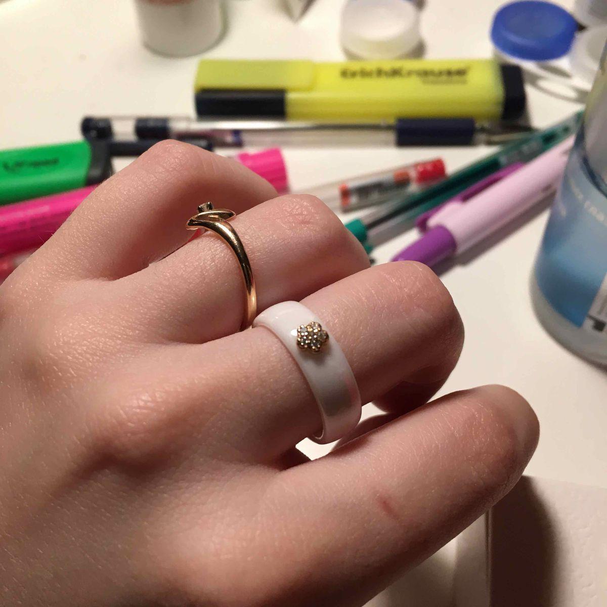 Офигенное кольцо с цветочком
