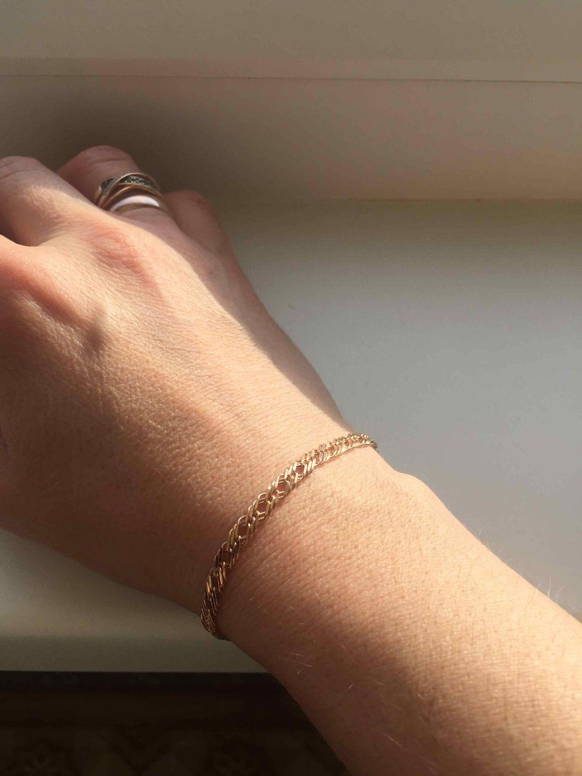 Чудесный, золотой браслет.