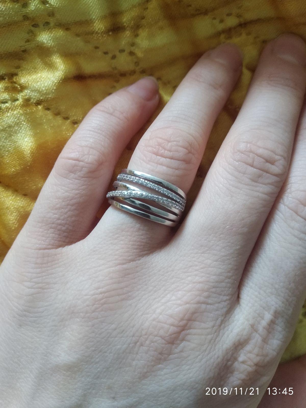 Кольцо серебреное.