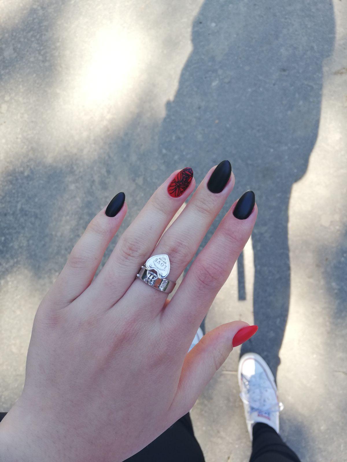 Серебряное кольцо с подвеской