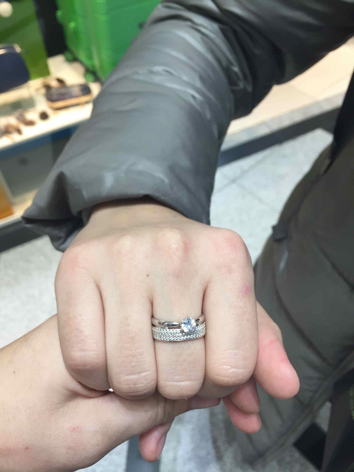 Двойное кольцо из серебра