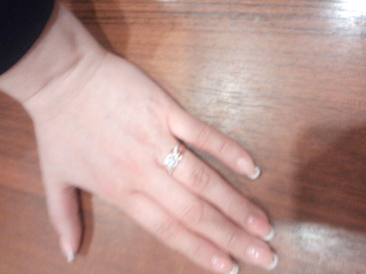 Кольцо с фионитами