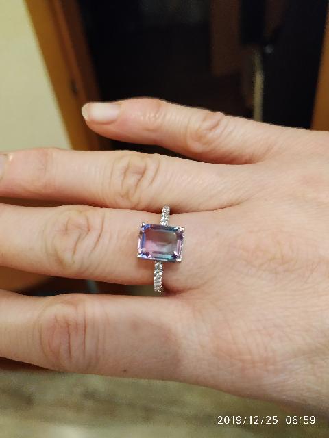 Серебряное кольцо с фианитом мистик