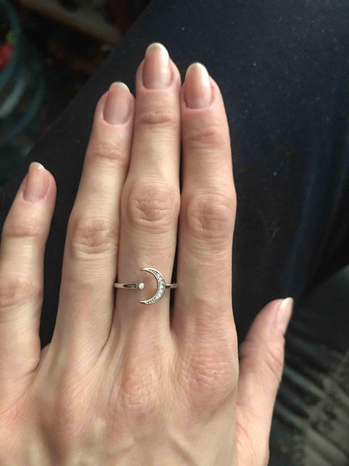 Кольцо с полумесяцем
