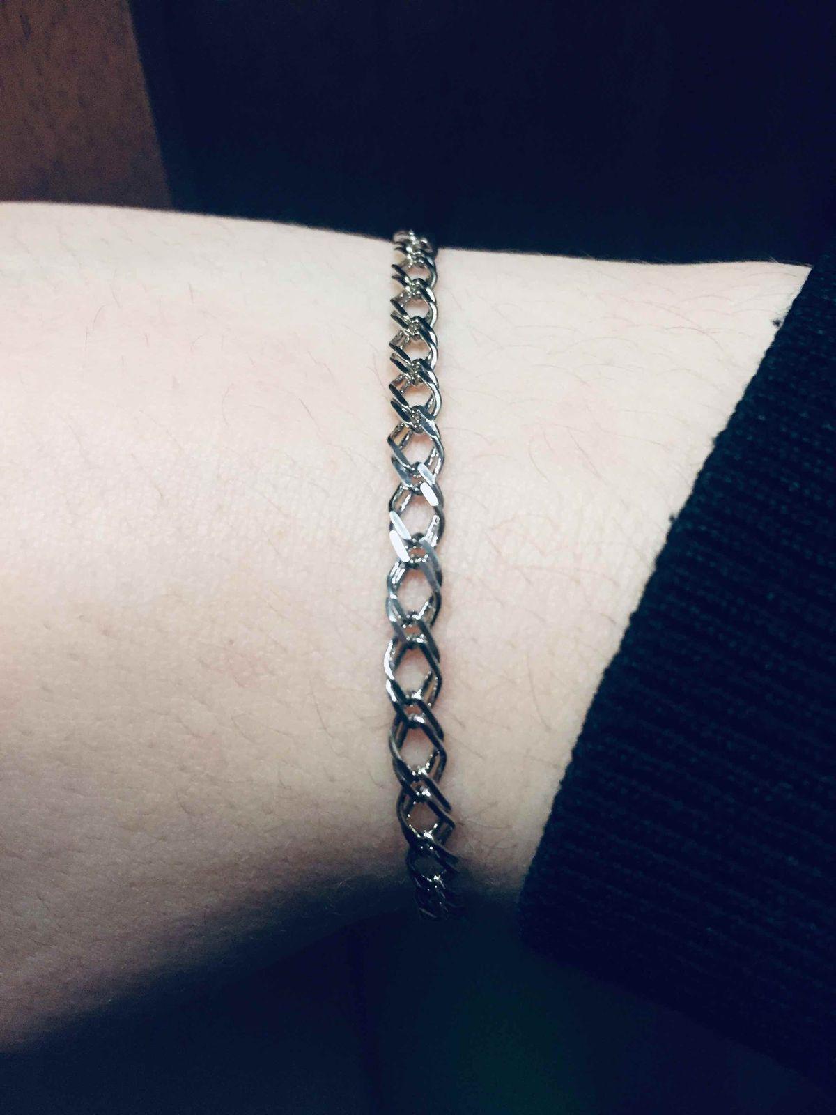 Браслет серебрянный размер 19