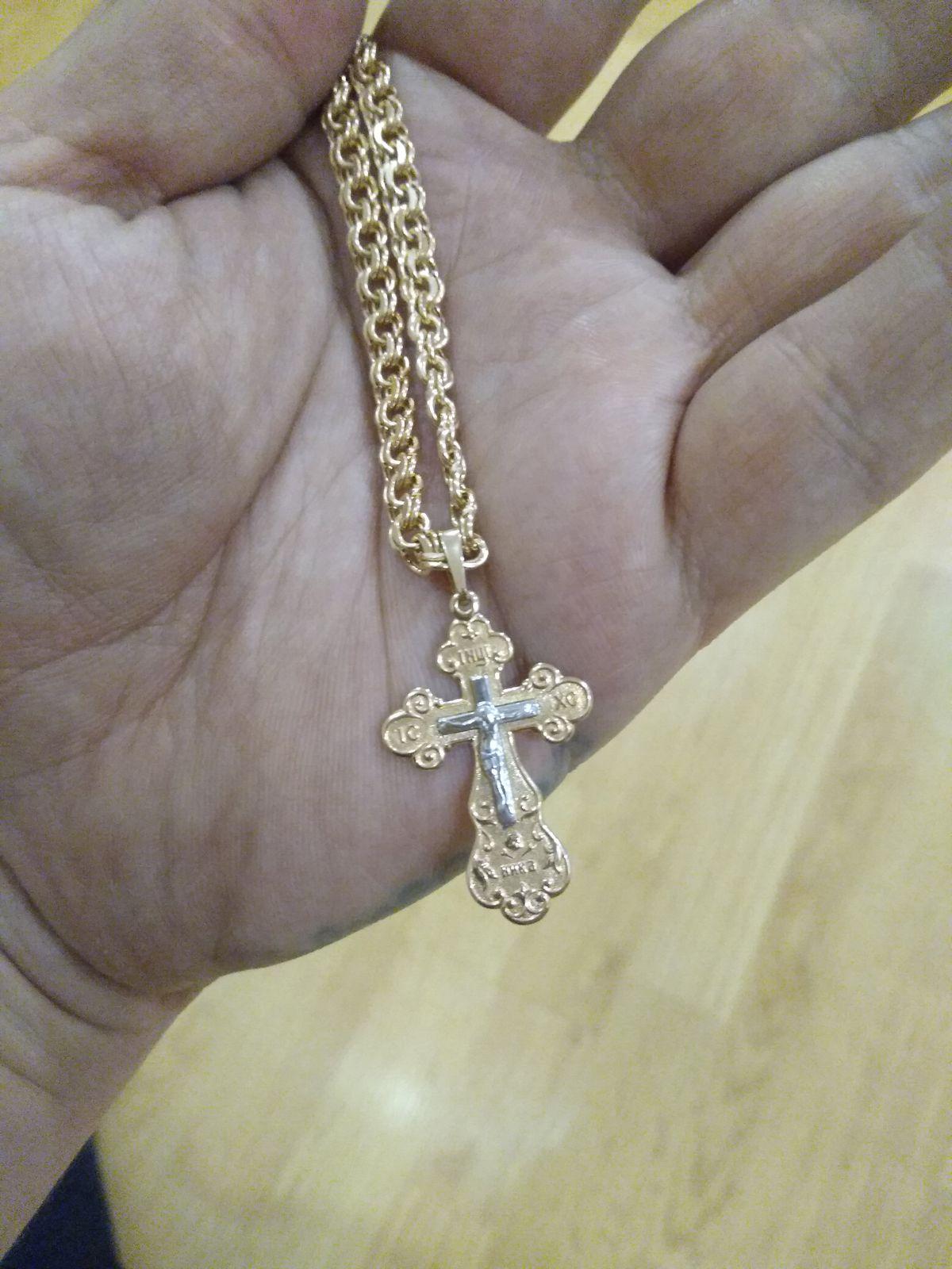 Золотой крест, очень хорошего качества