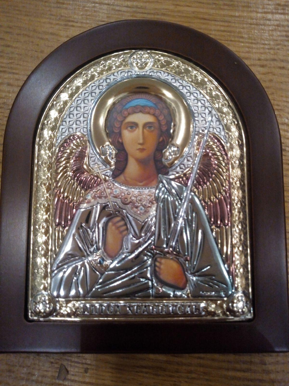 Икона из серебра Ангел Хранитель!