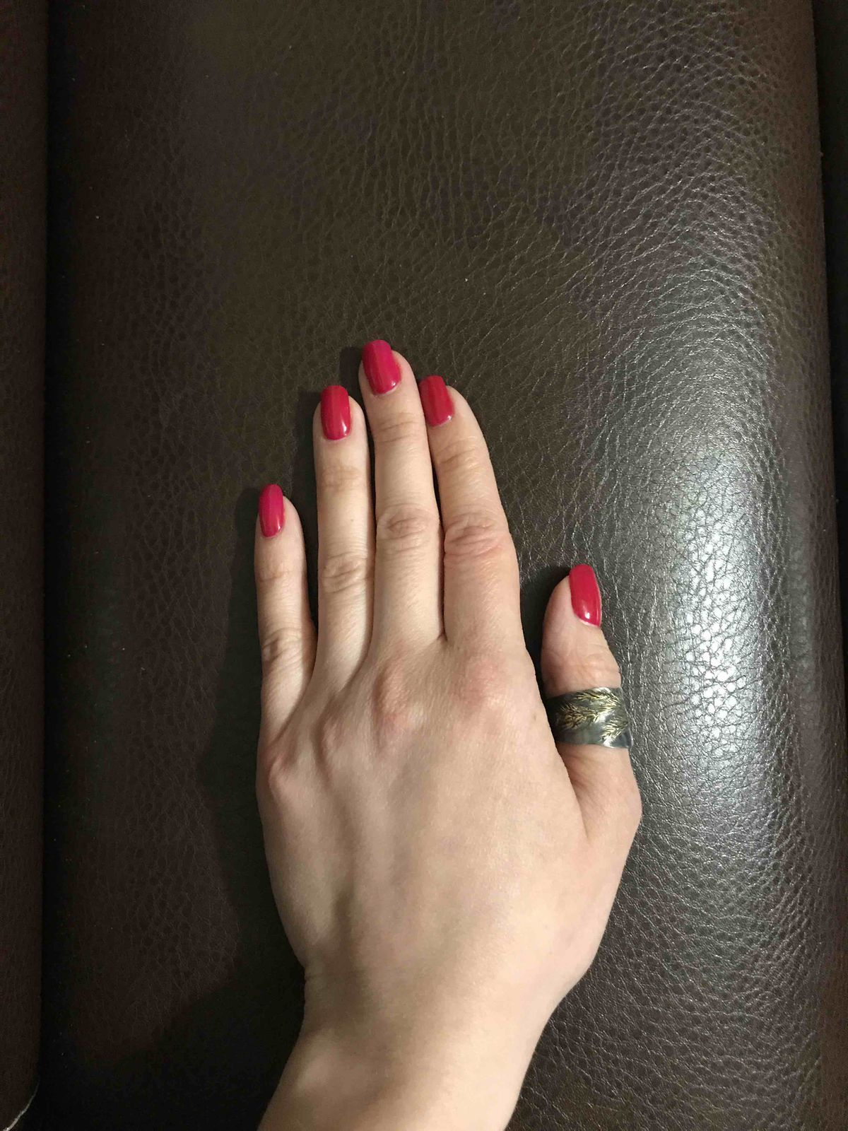 Серебряное кольцо с колосьями