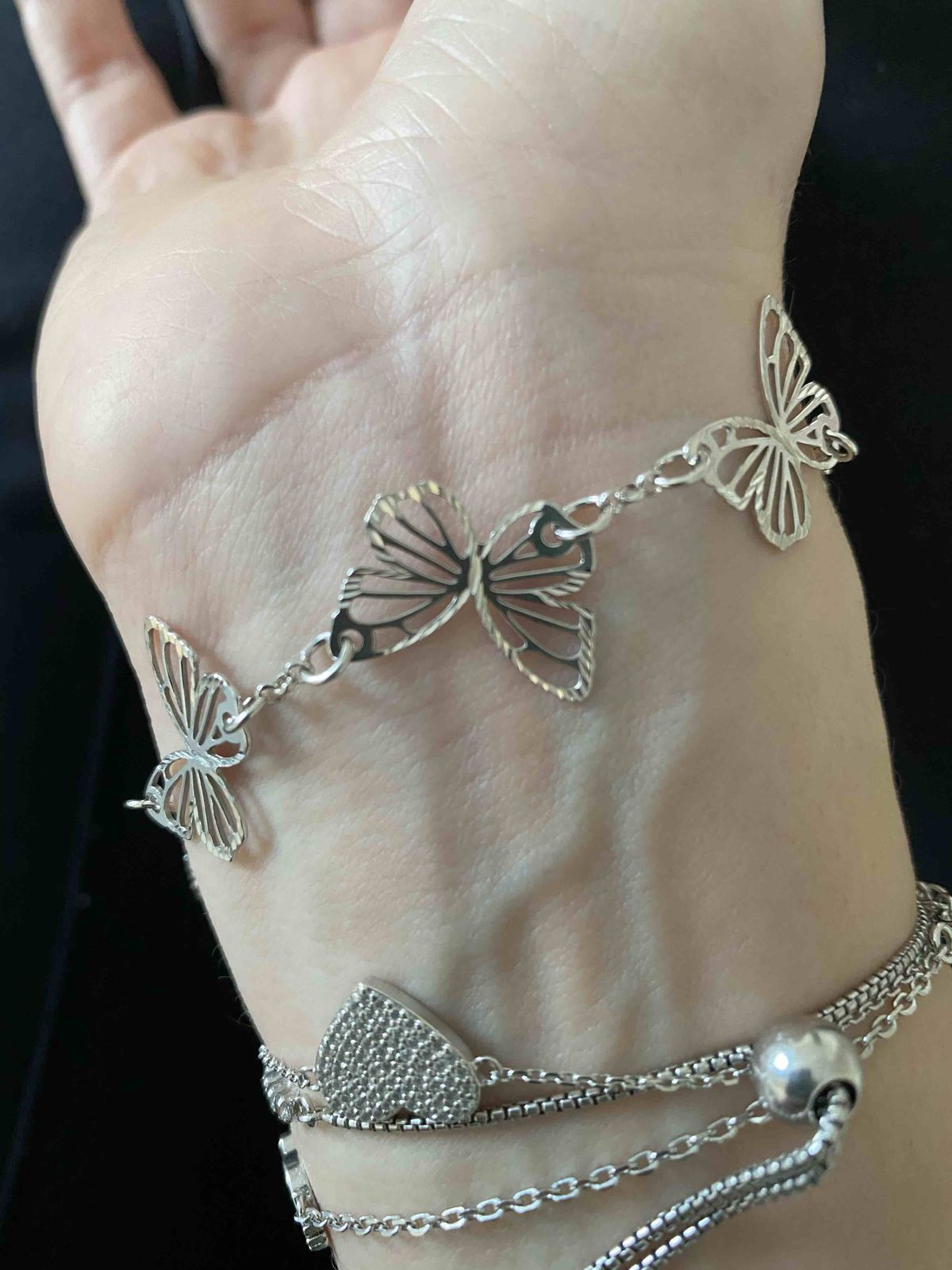 Серебряные бабочки