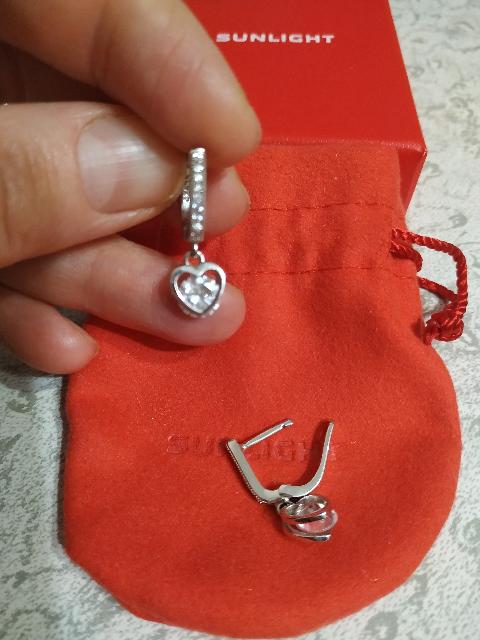 Серебряные серёжки.