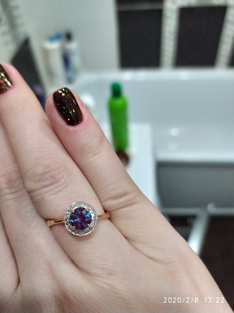 Кольцо с Александритом.