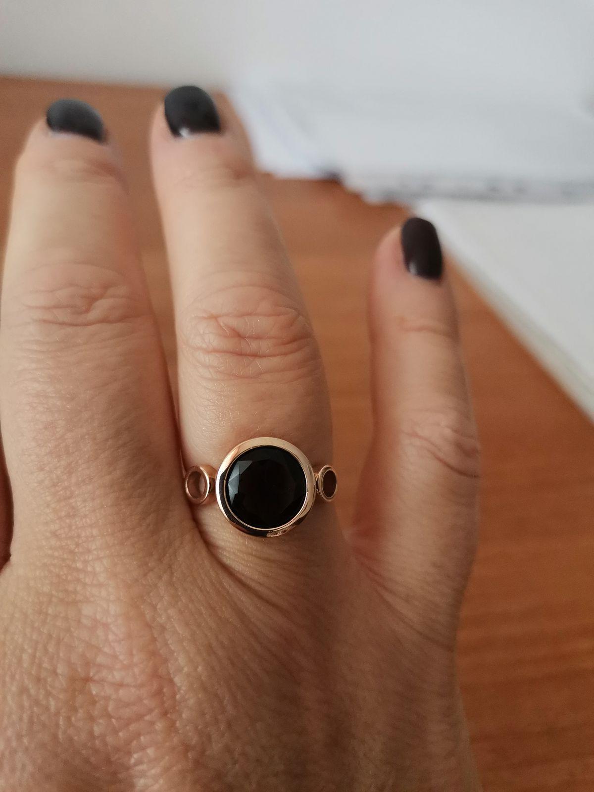 Кольцо с раухтопазом