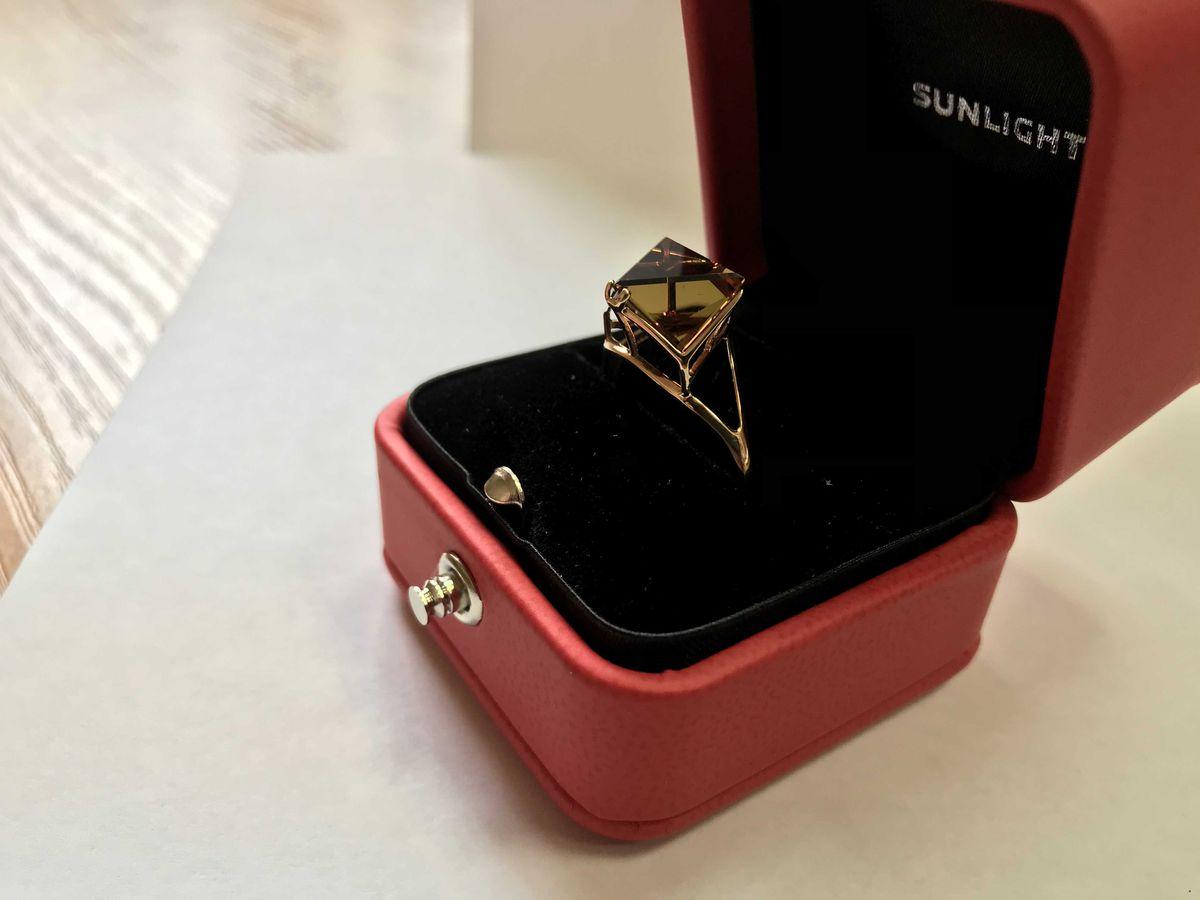 Кольцо с волшебным султанитом