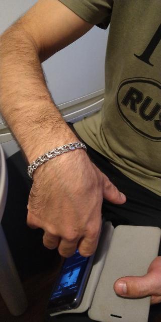 Браслет из серебра.