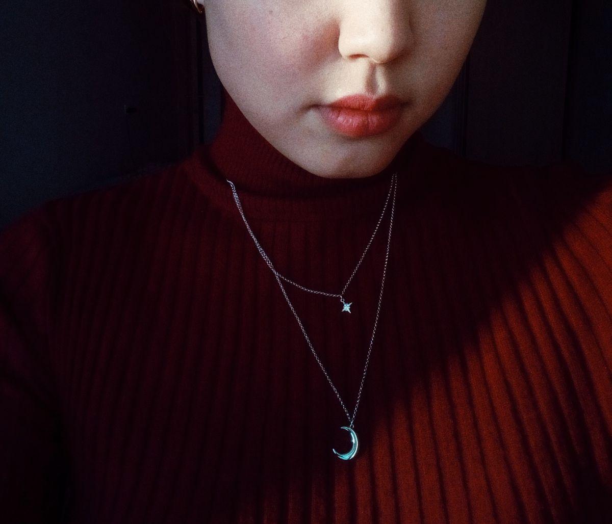 Ожерелье: звезда и месяц