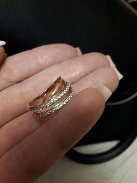 Кольцо позолоченое
