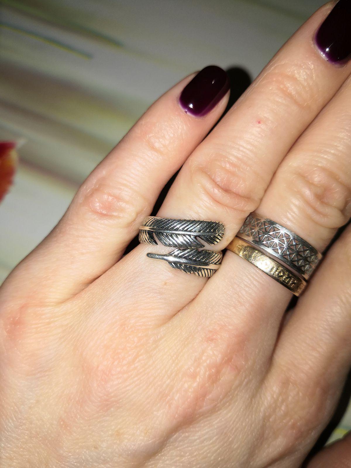 Серебряное кольцо в этно стиле