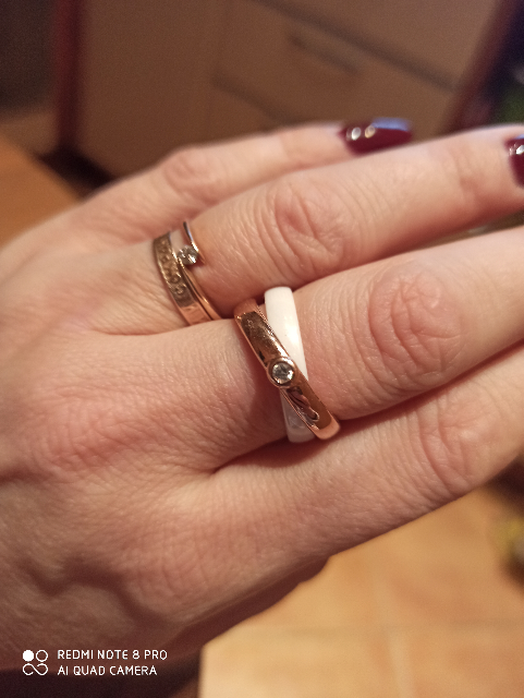 Кольцо серебряное и керамика
