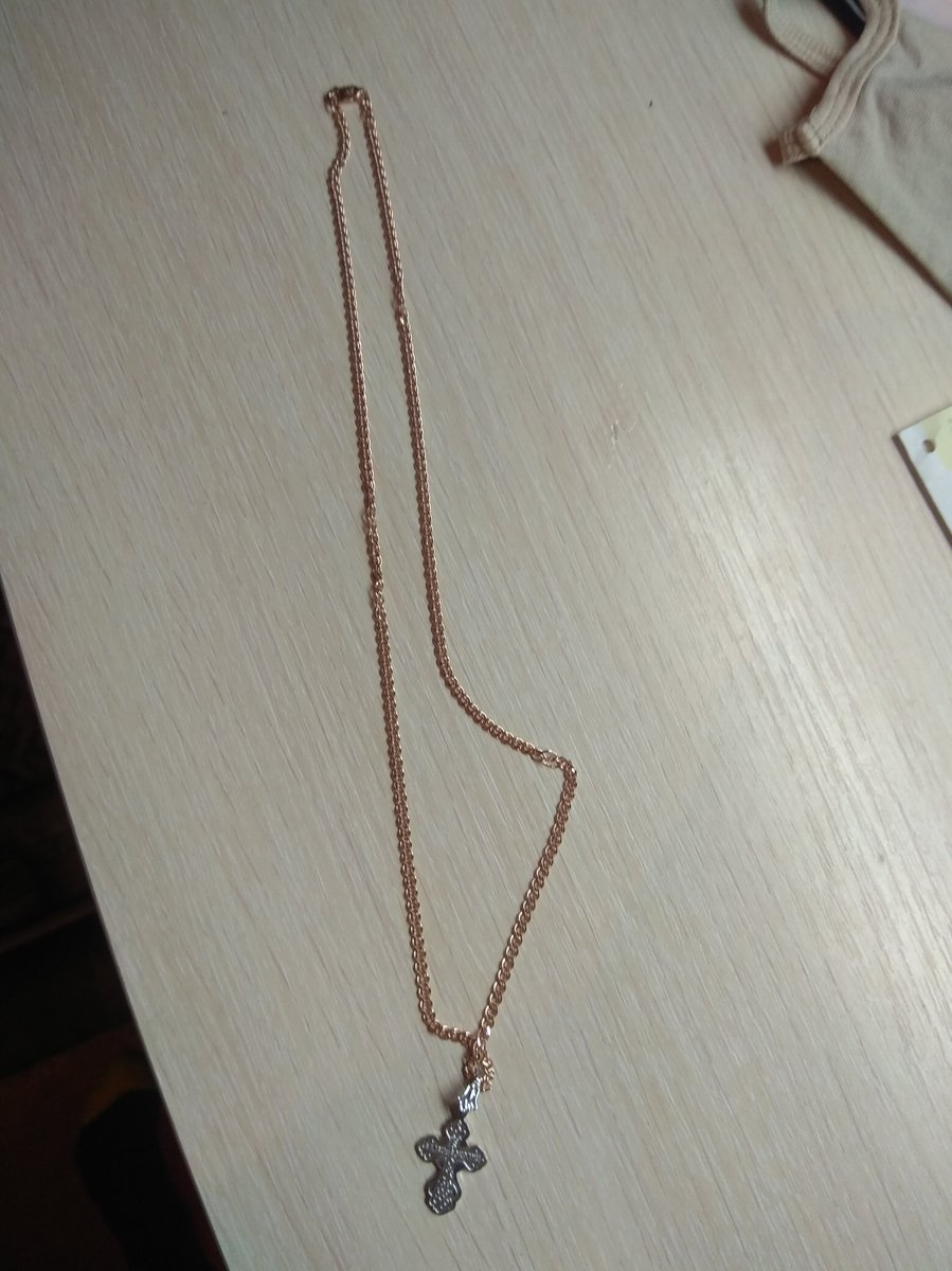 Серебряный крестик клёвый. Подарок серебряный ключик