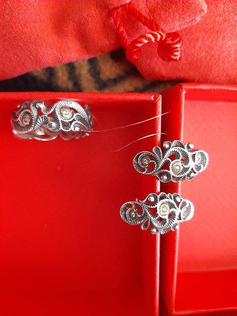 Серебряное кольцо ажурное