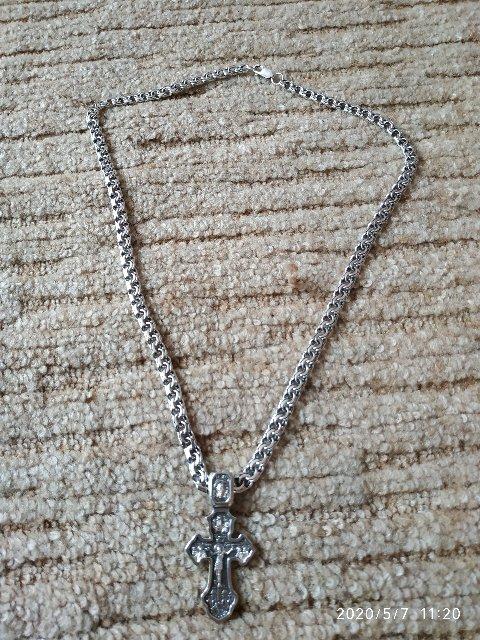 Серебряная цепочка 60 см